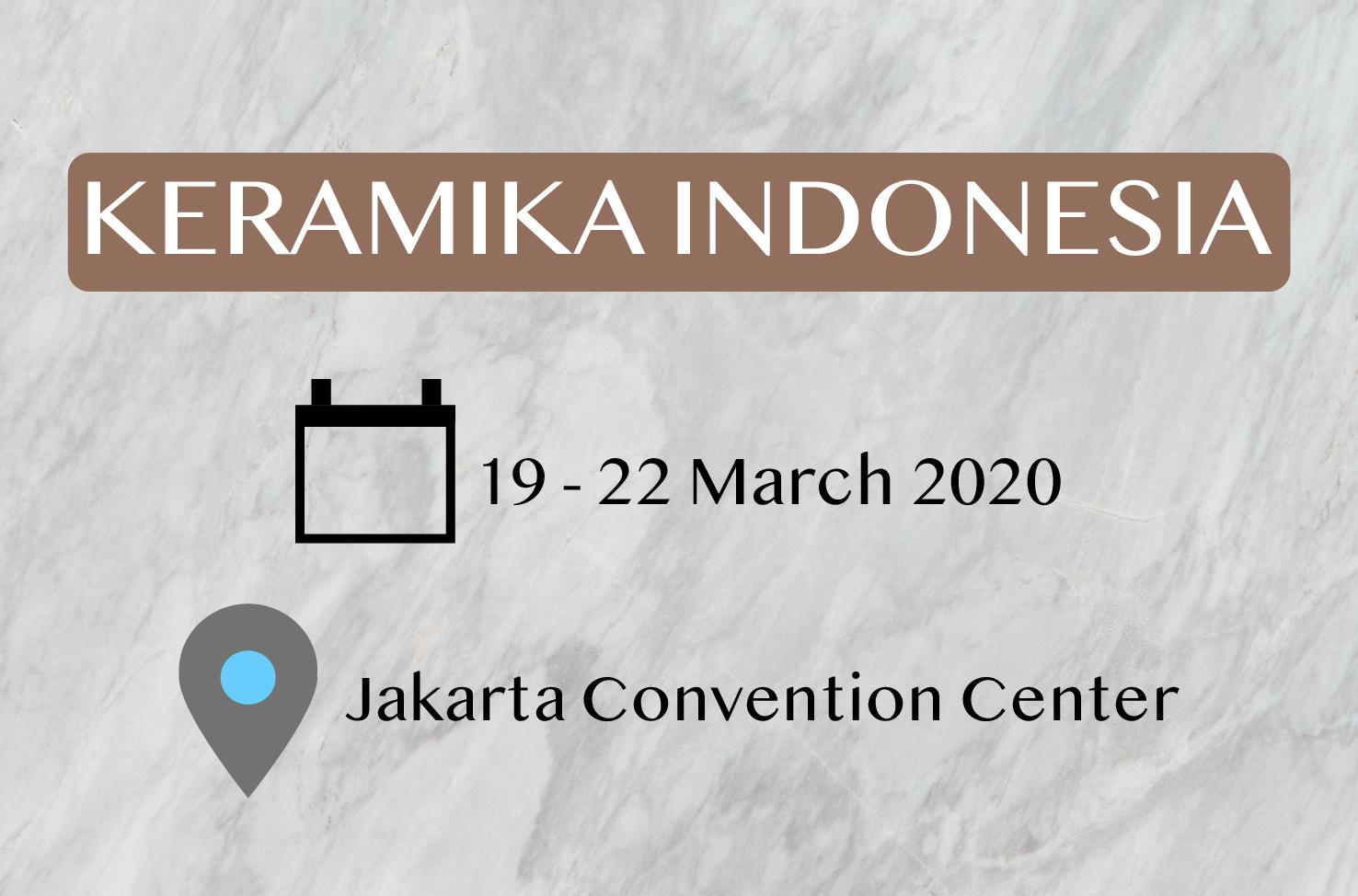 Keramika Indonesia, 19-22 Maret 2020 di JCC