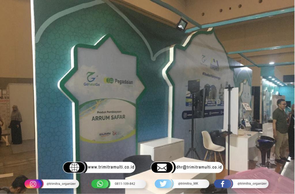 booth pameran gohalalgo Halal Expo di ICE BSD