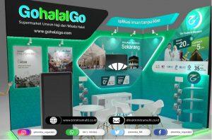 Booth pameran GohalalGO